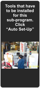 "Tools that have to be installed for this  sub-program. Click ""Auto Set-Up"""